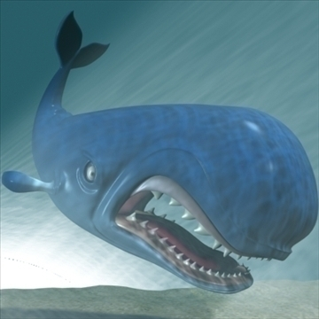 monstro cartoon whale rigged 3d model 3ds max fbx lwo obj 107280