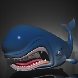 Monstro Cartoon Whale Rigged ( 62.16KB jpg by supercigale )