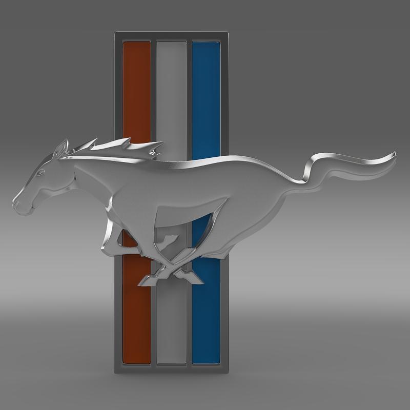mustang boss 2012 logo 3d model 3ds max fbx c4d lwo ma mb hrc xsi obj 124548