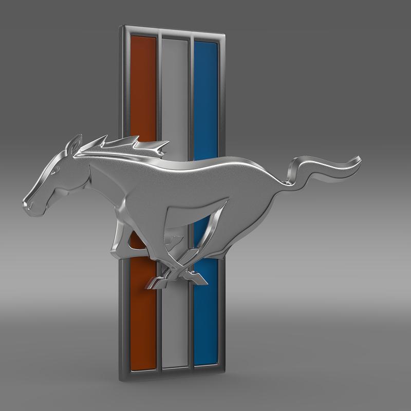mustang boss 2012 logo 3d model 3ds max fbx c4d lwo ma mb hrc xsi obj 124549