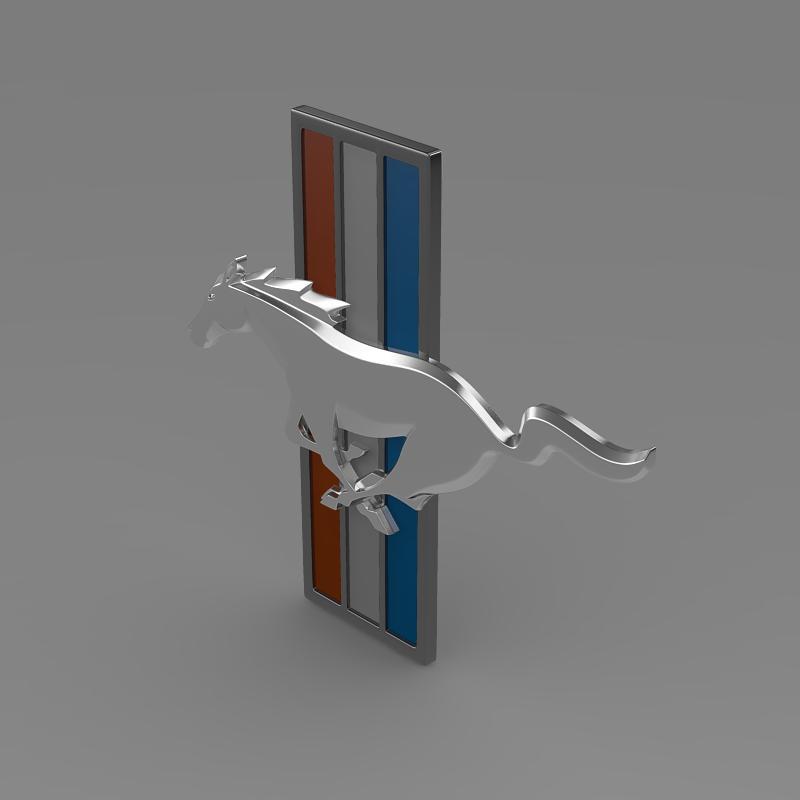 mustang boss 2012 logo 3d model 3ds max fbx c4d lwo ma mb hrc xsi obj 124550
