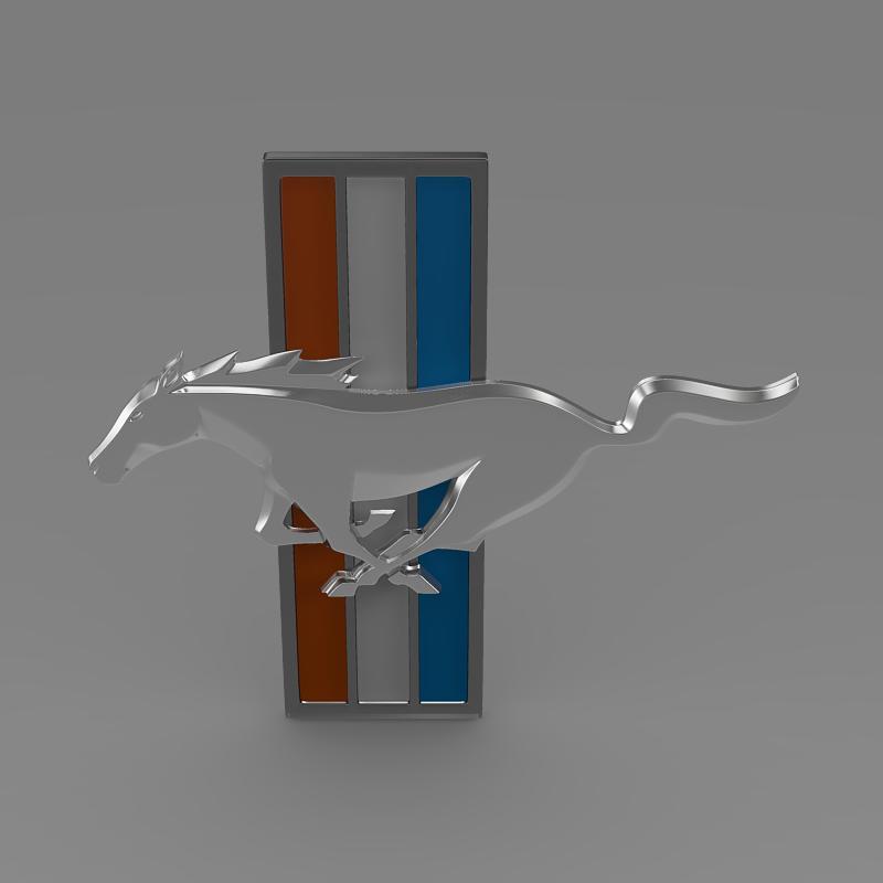 mustang boss 2012 logo 3d model 3ds max fbx c4d lwo ma mb hrc xsi obj 124551