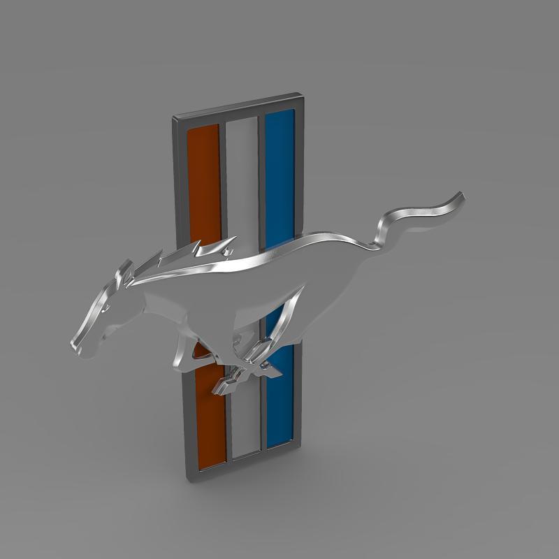 mustang boss 2012 logo 3d model 3ds max fbx c4d lwo ma mb hrc xsi obj 124552