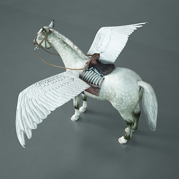 pegasus (horse with wings) 3d model 3ds max dxf fbx c4d x lwo 3dm hrc xsi texture wrl wrz obj 118063
