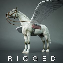 Pegasus (horse with wings) ( 198.08KB jpg by 5starsModels )