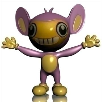 pokemon like monkey rigged 3d model 3ds max fbx lwo obj 107514