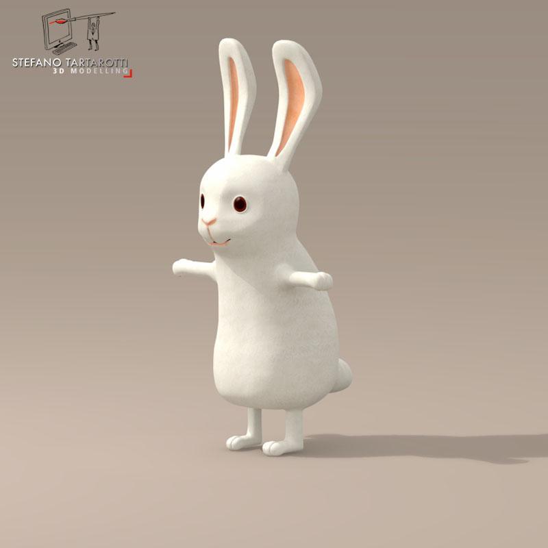 Cartoon Characters 3d Model Download : Rabbit cartoon character d model buy
