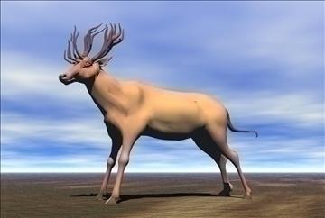 red deer 3d model max blend 91419