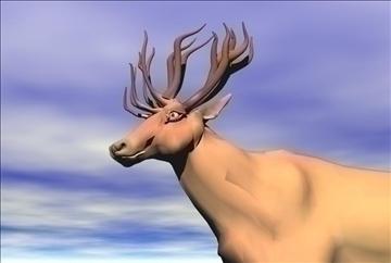red deer 3d model max blend 91420