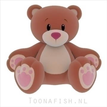 Teddybear 3d model teksture obj 100318