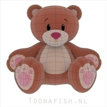 Teddybear 3d model teksture obj 100319