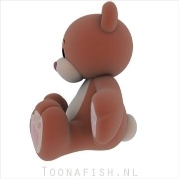 Teddybear 3d model teksture obj 100321
