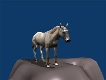 white horse 3d model blend 108605