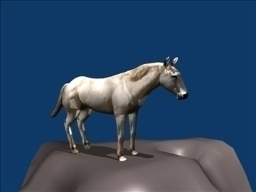 white horse 3d model blend 108606