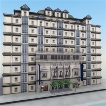 luxury paris apartment building 3d model 3ds max fbx lwo ma mb hrc xsi texture obj 99974
