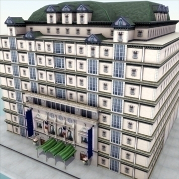 luxury paris apartment building 3d model 3ds max fbx lwo ma mb hrc xsi texture obj 99976