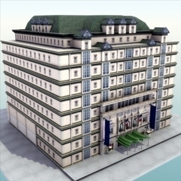 luxury paris apartment building 3d model 3ds max fbx lwo ma mb hrc xsi texture obj 99977