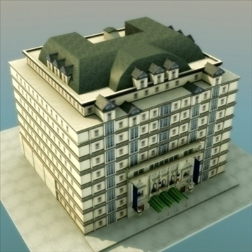 luxury paris apartment building 3d model 3ds max fbx lwo ma mb hrc xsi texture obj 99979