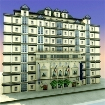 luxury paris apartment building 3d model 3ds max fbx lwo ma mb hrc xsi texture obj 99980