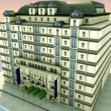 luxury paris apartment building 3d model 3ds max fbx lwo ma mb hrc xsi texture obj 99982