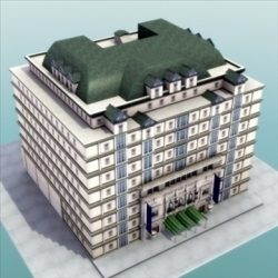 Luxury Paris Apartment Building ( 106.95KB jpg by 3DArtisan )