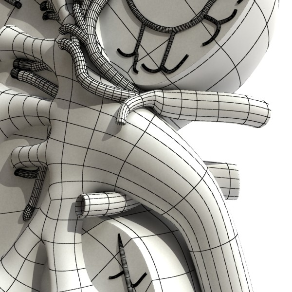kidney anatomy high detail 3d model 3ds max fbx obj 130146