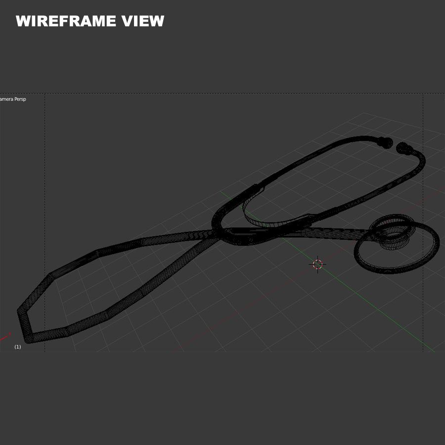 stethoscope – model #3 3d model 3ds max fbx blend br4 obp obj 119434