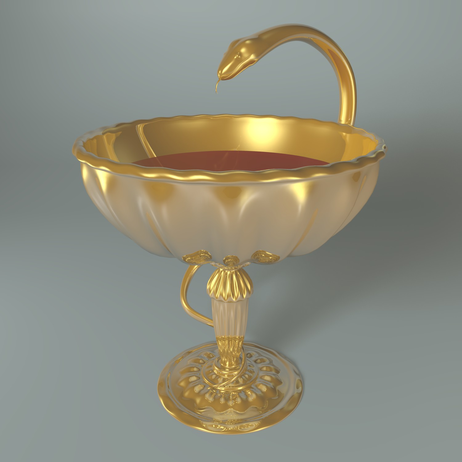 cup with snake 3d model blend obj 135235