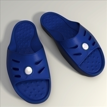 detailed sport slippers 3d model 3ds blend obj 106134