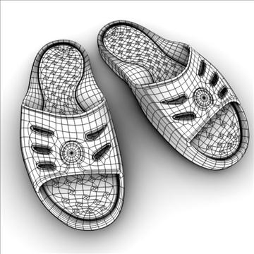 detailed sport slippers 3d model 3ds blend obj 106135