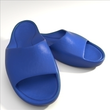 sport slippers 3d model 3ds blend obj 106131