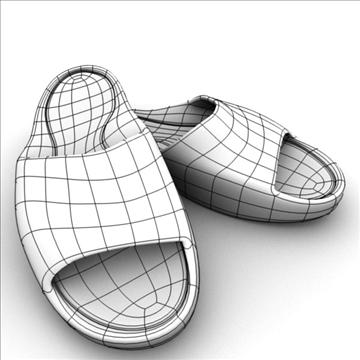 sport slippers 3d model 3ds blend obj 106133