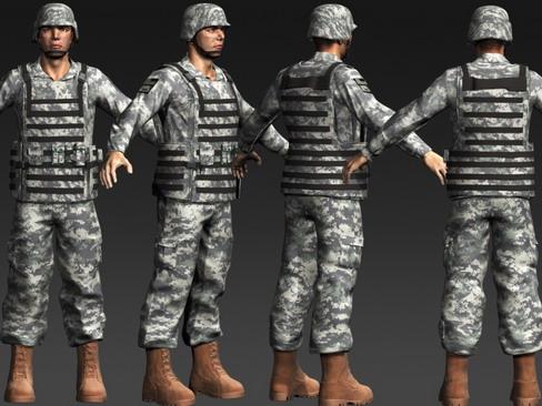 Дани улсын цэргийн даавуу 3d загвар max 114376