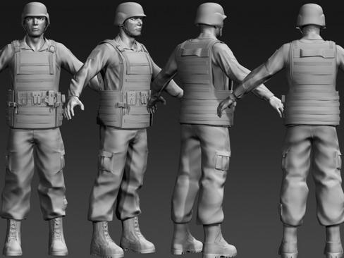 daniel military cloth 3d model max 114377