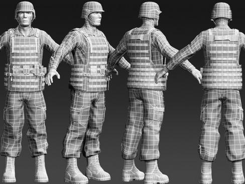 daniel military cloth 3d model max 114378