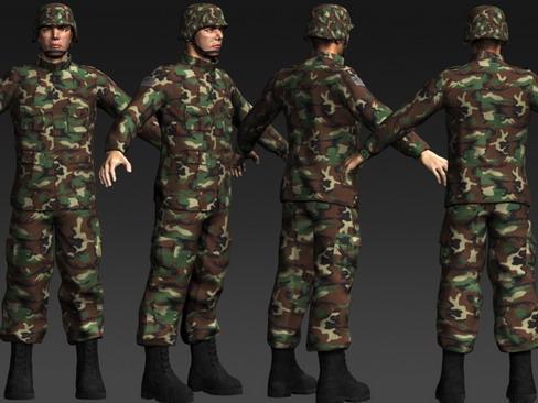 daniel military cloth 3d model max 114382