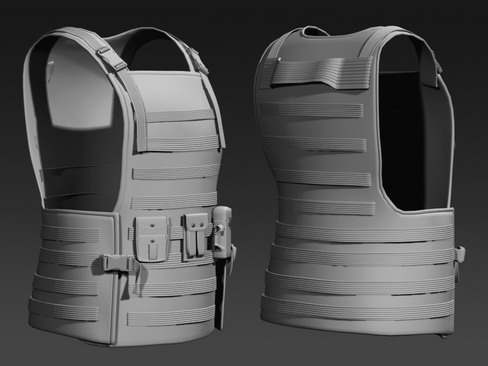 daniel military cloth 3d model max 114386