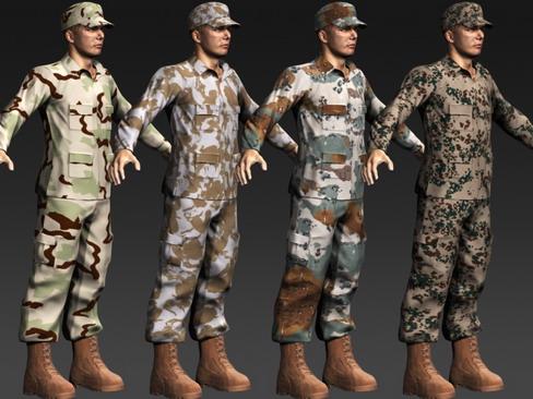 daniel military cloth 3d model max 114391