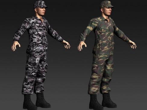 daniel military cloth 3d model max 114393