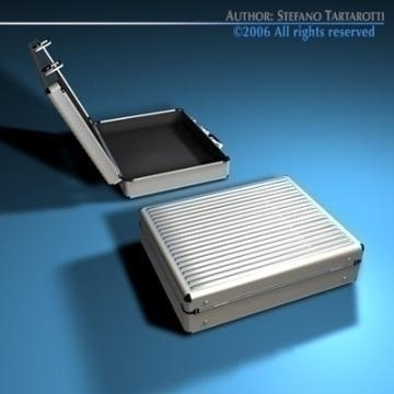 aluminium suitcase 3d model 3ds dxf c4d obj 78007