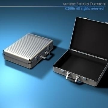 aluminium suitcase 3d model 3ds dxf c4d obj 78009