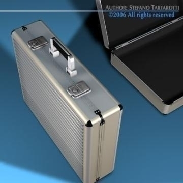 aluminium suitcase 3d model 3ds dxf c4d obj 78011
