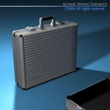 aluminium suitcase 3d model 3ds dxf c4d obj 78012