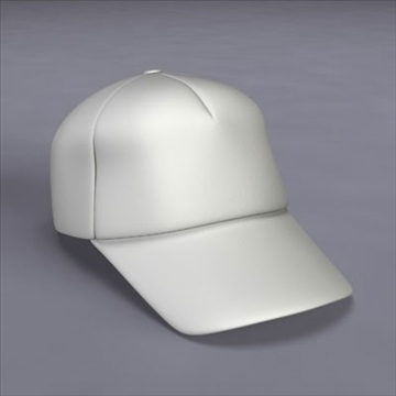baseball cap 3d model 3ds dxf fbx c4d x obj 105498