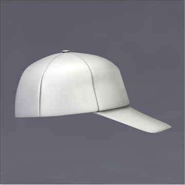 baseball cap 3d model 3ds dxf fbx c4d x obj 105500
