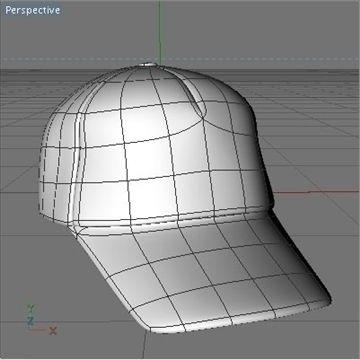 baseball cap 3d model 3ds dxf fbx c4d x obj 105503