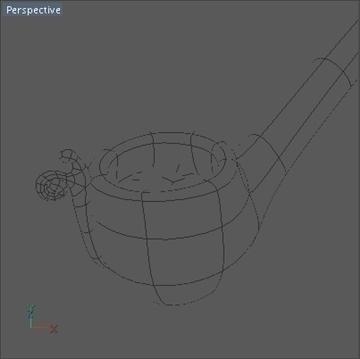 bilbo baggins pipe 3d model 3ds dxf fbx c4d x obj 103022