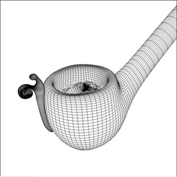 bilbo baggins pipe 3d model 3ds dxf fbx c4d x obj 103024