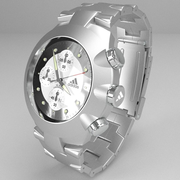 chronograph watch 3d model 3ds fbx skp obj 115582