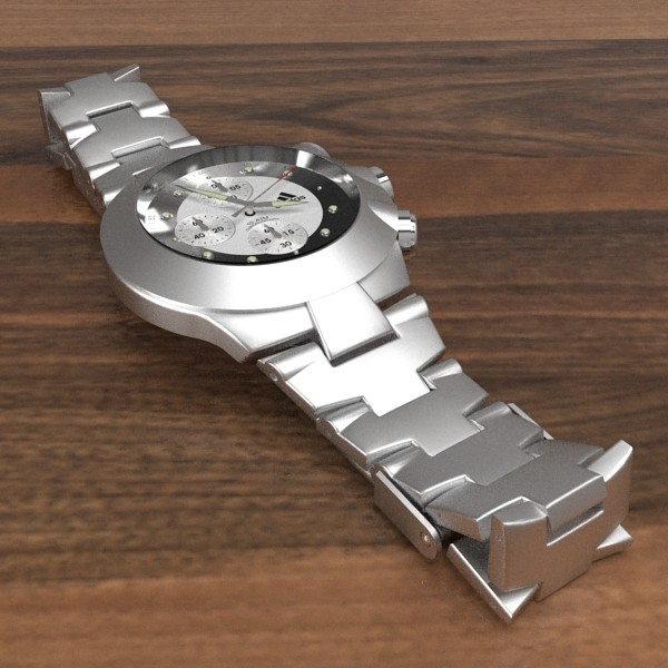 chronograph watch 3d model 3ds fbx skp obj 115585